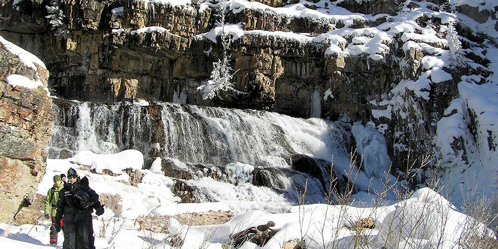 Bridger Teton Gros Ventre Granite Hot Springs Brooks Lake Lodge Snowmobile Winter Scenic