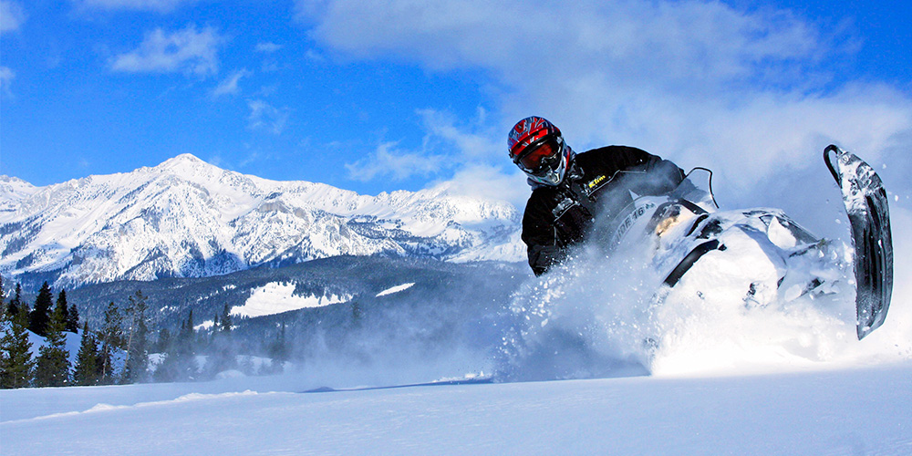 Bridger Teton Gros Ventre Granite Hot Springs Brooks Lake Lodge Snowmobile Winter Scenic